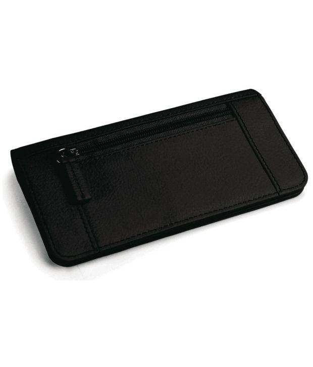 Adamis Classic Black Textured Finish Ladies' Wallet