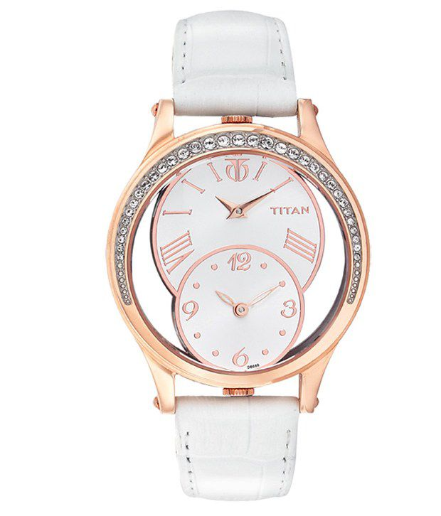 Titan purple watches for women