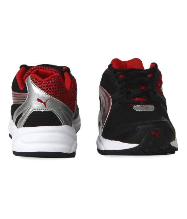 Puma Zapatillas De Deporte De Flash Negro Y Rojo tzANal