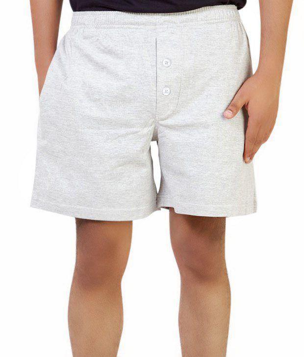 Benston Cool Grey Melange Shorts