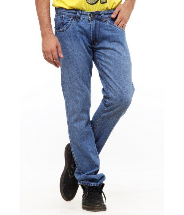 Delhi Seven Casual Blue Slim Fit Jeans
