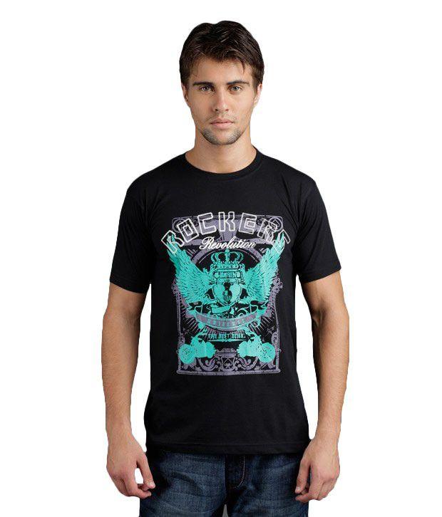 Yepme Rockers Revolution Black T-Shirt