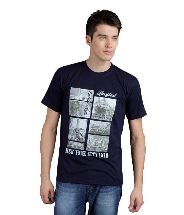 Yepme New York City Inspired Navy T-Shirt