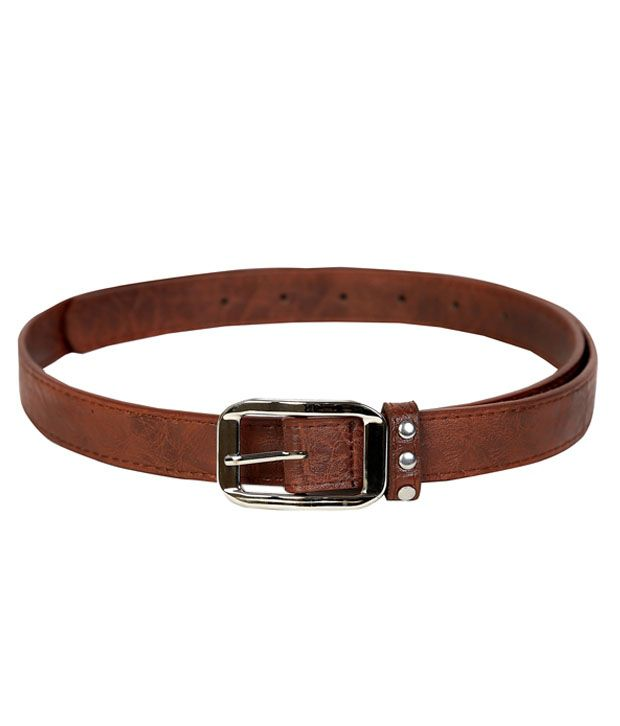 Lino Perros Brown Textured Finish Belt