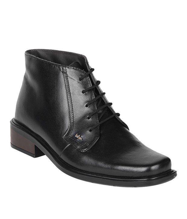 Lee Cooper Modest Black Ankle Length Boots