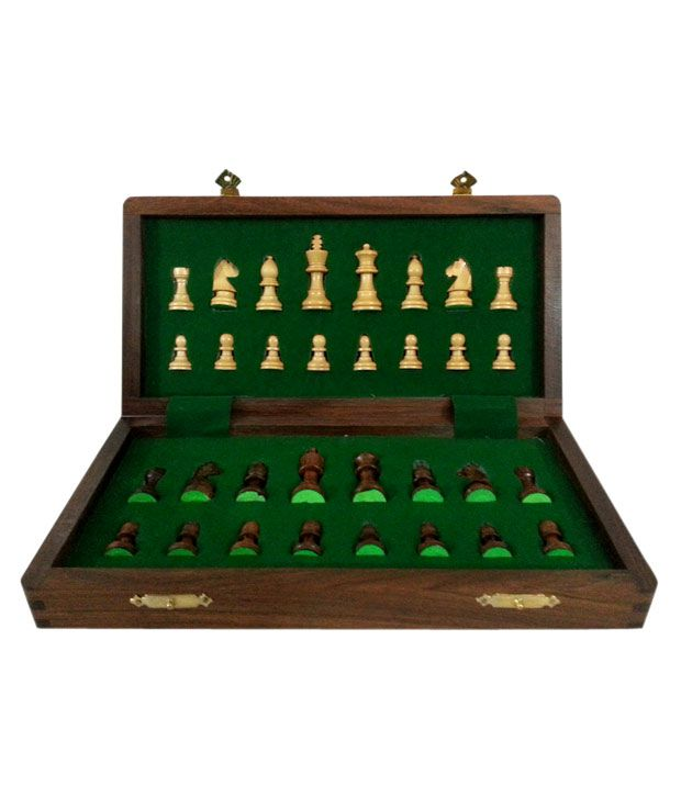 Chess n Craft Folding Magnetic Chess 10 Inch