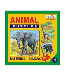 Creatives Animal Puzzle No. 1- 4 to 10 Pieces