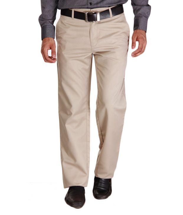 Alano Cream Cotton Trousers