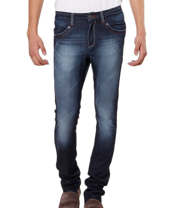 TNG Blue Faded Slim Fit Jeans