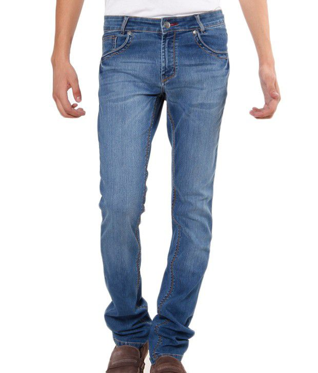 TNG Light Blue Faded Slim Fit Jeans