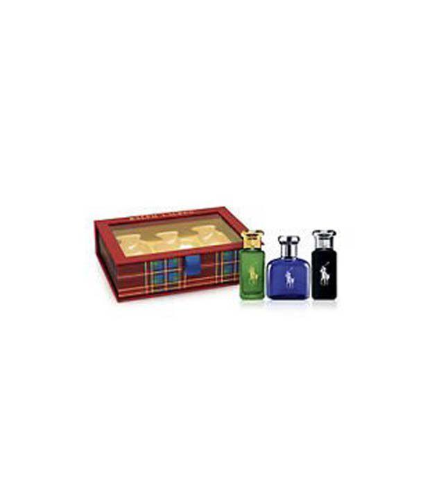 Black Coffret Blue 3 Ralph Lauren Polo Piece Gift Set E2HD9IWY