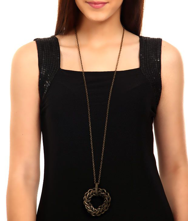 Rhea Round Intertwined Pendant Necklace