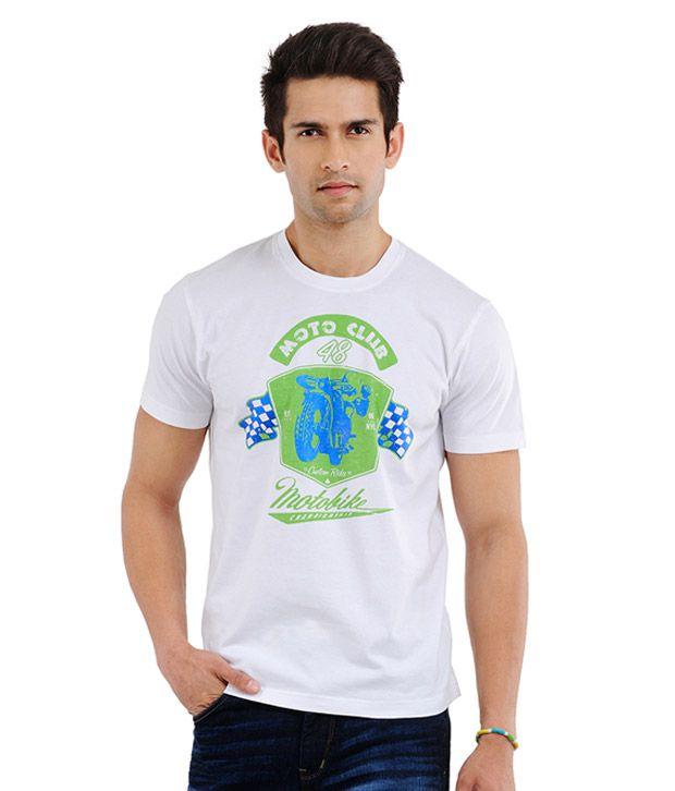 Yepme Motor Bike Pure White T-Shirt