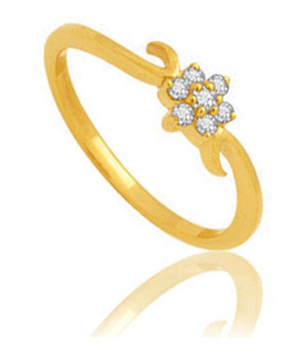 Avsar 18kt Gold 0.10 Ct. Diamond Floral Elegance Ring