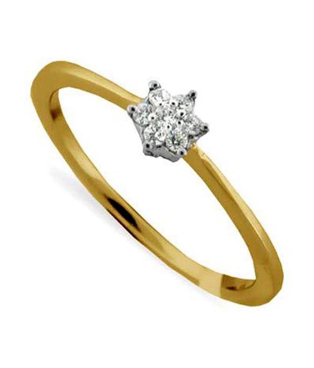 Avsar 18kt Gold 0.12 Ct. Diamond Floral Glow Ring