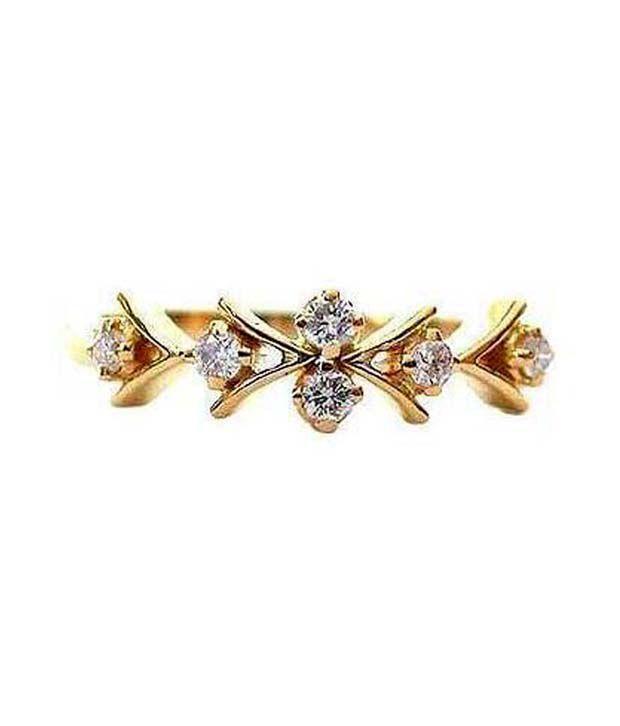 Avsar 0.10 Ct. Six Diamond 18kt Gold Ring
