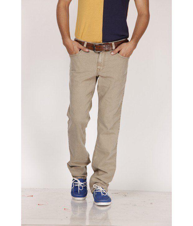 Lawman Pg3 Beige Regular Fit Jeans