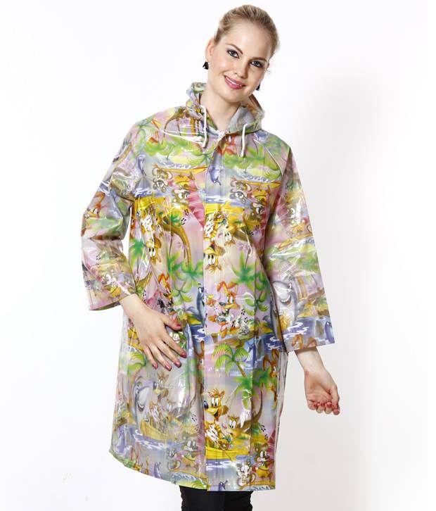 Jorss Multicolour Medium Women Raincoat