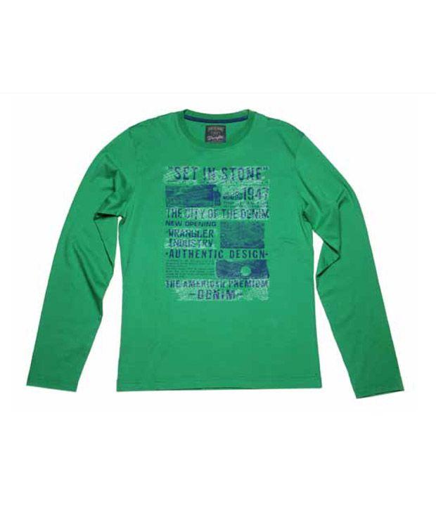 Wrangler Green Printed T-Shirt
