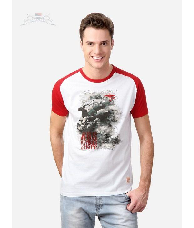 Spiel White Crew Neck T-Shirts