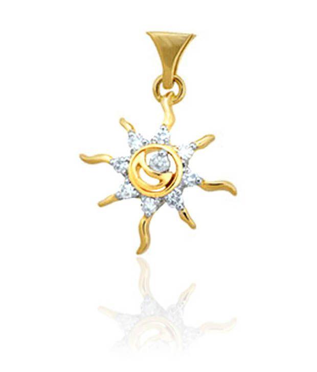 Avsar 18kt Gold Diamond Sun Pendant Buy Avsar 18kt Gold