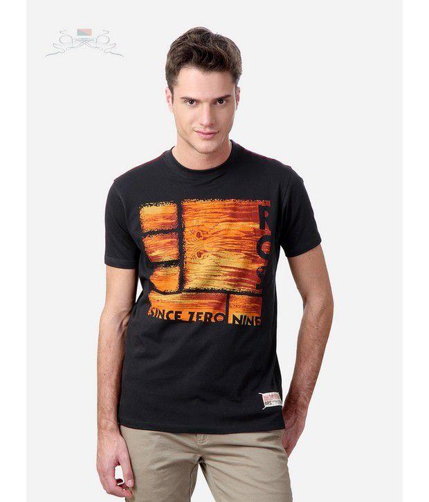 Spiel Charcoal Crew Neck T-Shirts