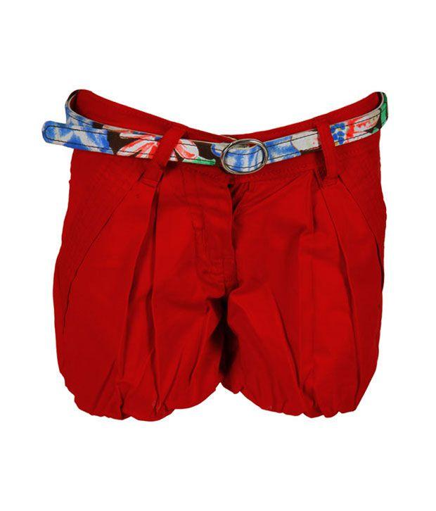 Glow & Glitters Red Shorts