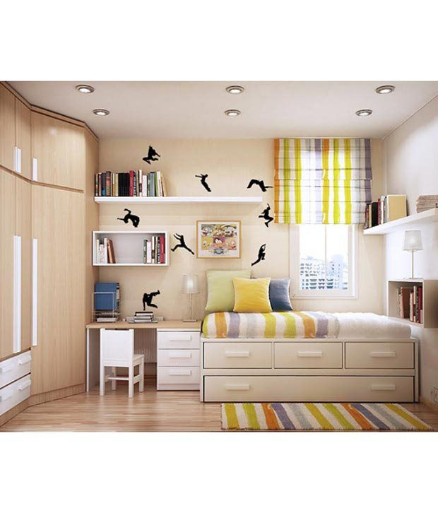 WallDesign Parkour Black Wall Stickers 1