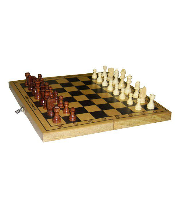 Wood O Plast Chess Box Set - 12 Inches (With Wooden Chessmen)