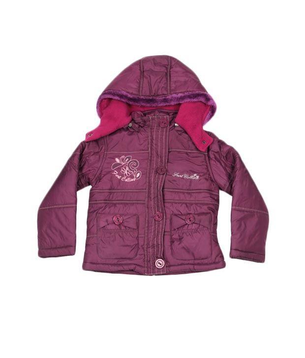 Fort Collins Purple Fur Hoodie Jacket For Kids