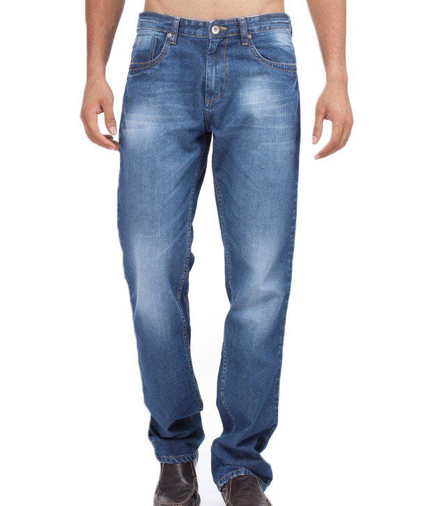 Yepme Blue Faded Jeans