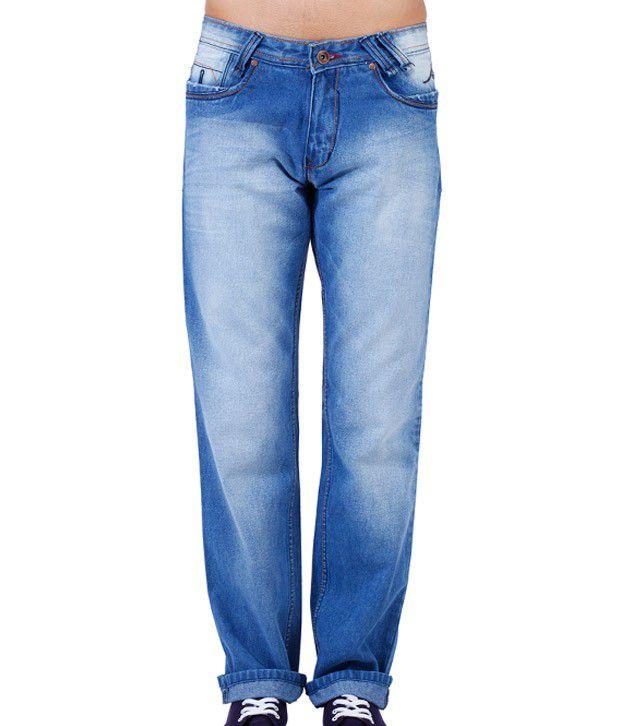 Yepme Sky Blue Faded Jeans