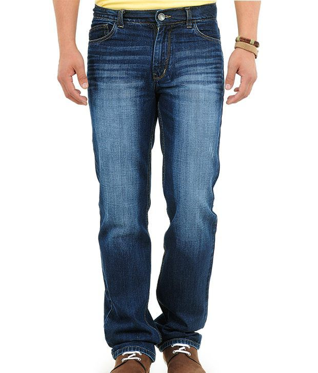 Yepme Cool Dark Blue Faded Jeans