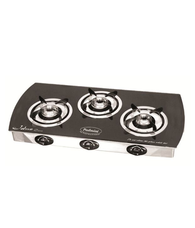 Padmini Jalwa Curve 3 Burner Gas Cooktop
