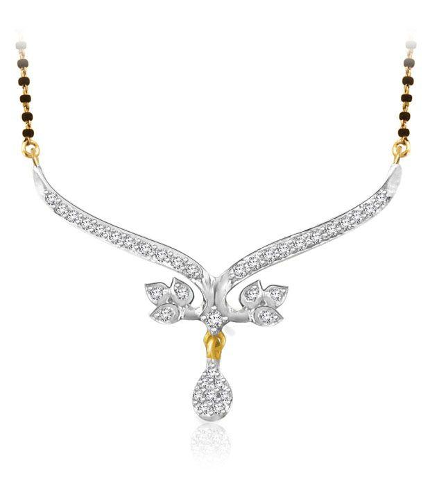 Sparkles 0.15ct. Diamond & 18kt Gold Leafy Mangalsutra