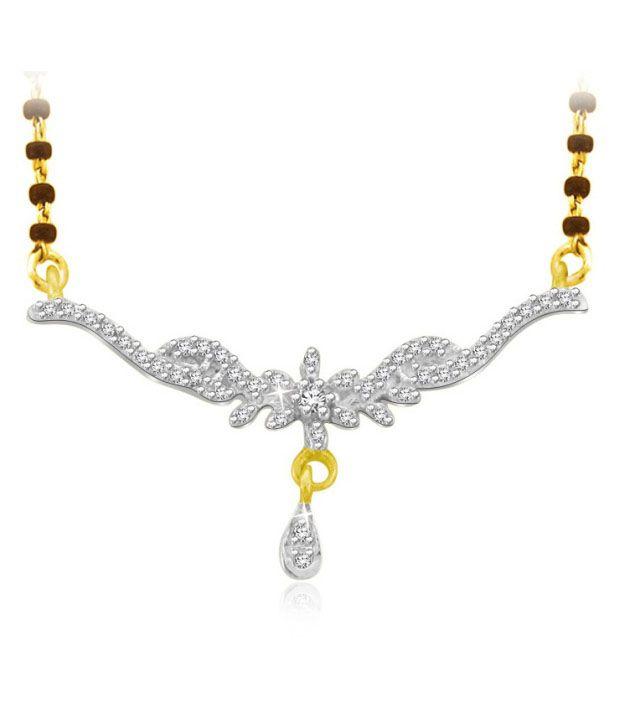 Sparkles 0.09ct. Diamond & 18kt Gold Graceful Mangalsutra