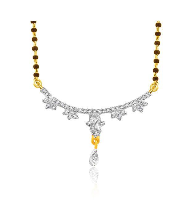 Sparkles 0.12ct. Diamond & 18kt Gold Glittering Mangalsutra