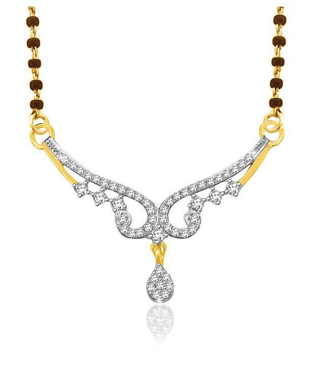 Sparkles 0.16ct. Diamond & 18kt Gold Mangalsutra