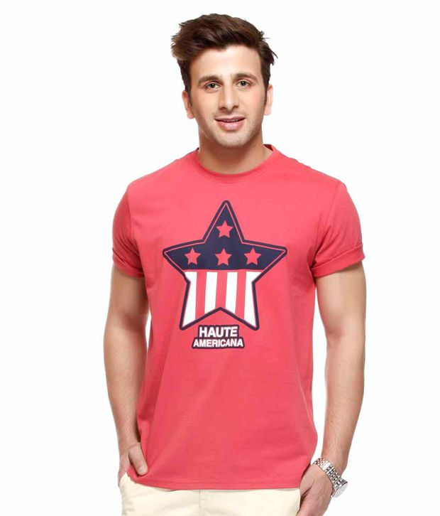 American Swan Dark Pink T-Shirt