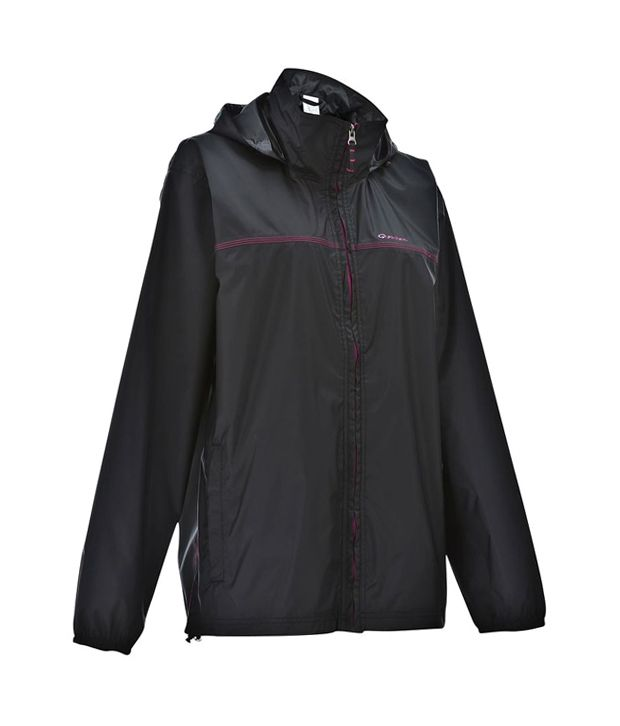 Quechua Raincut-Zip-Lady Hiking Rain Wear 8207400