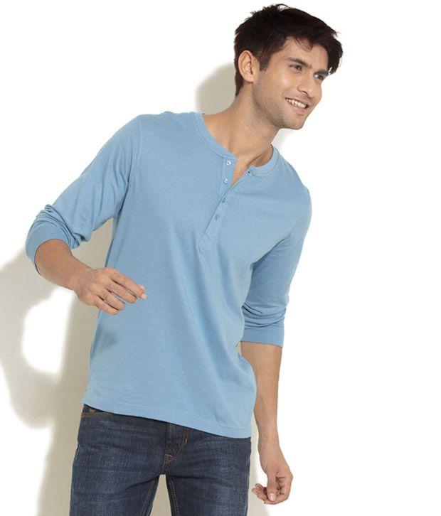 freecultr light blue henley t shirt buy freecultr light