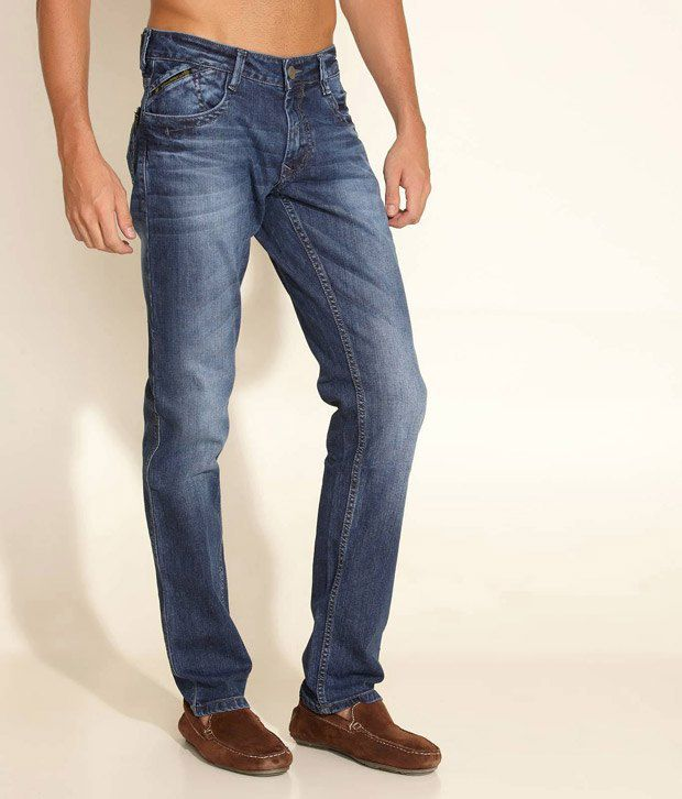 Yellowjeans Medium Blue Light Washed Jeans