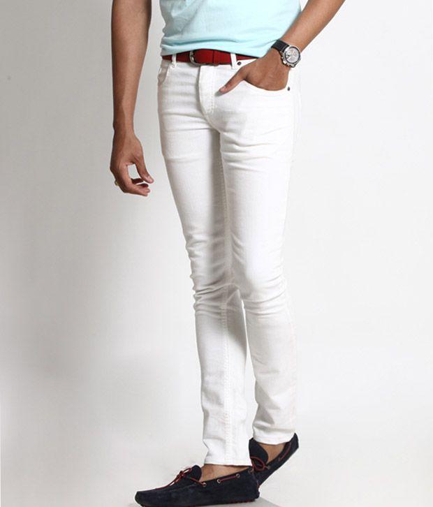 Basics 029 White Slim Fit Jeans