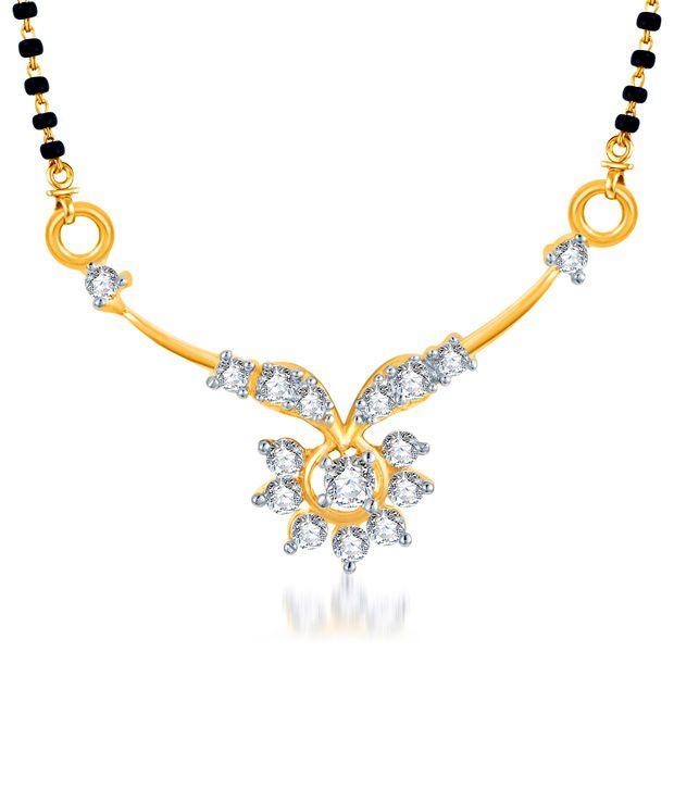 Sukkhi Gold & Rhodium Plated Sunshine CZ Mangalsutra (Mangalsutra Mala may vary from the actual image)