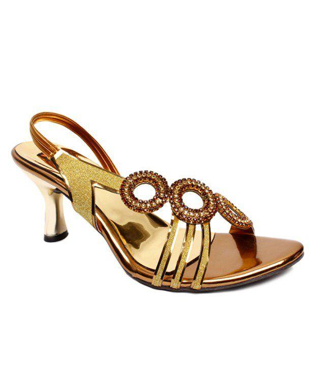 Star Beeez Stunning Golden Heel Sandals