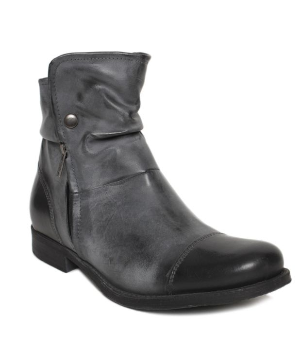 Euro Star Striking Grey High Ankle Length Boots