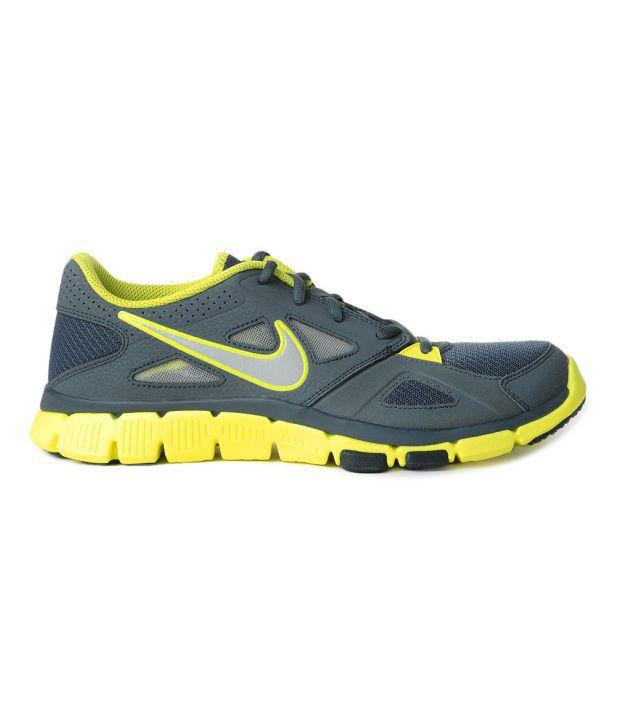 7f7808b43b80 Nike Flex Supreme TR 2 Grey   Yellow Running Shoes - Buy Nike Flex ...