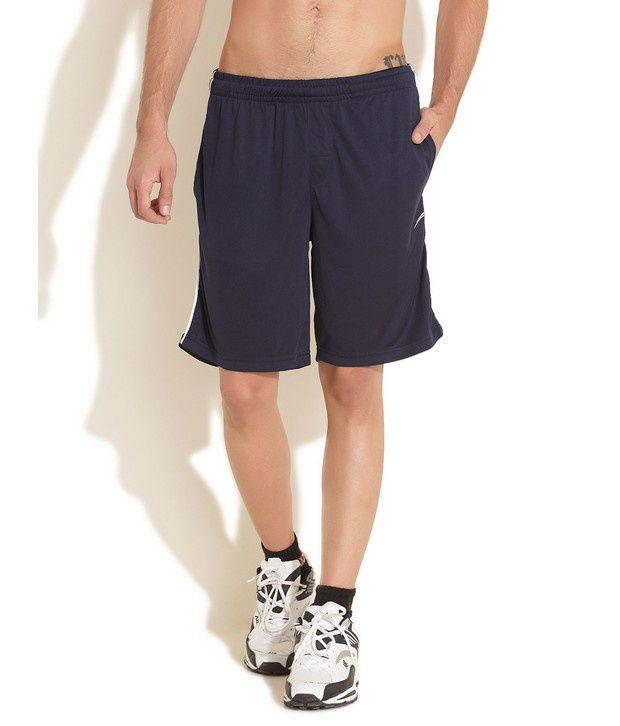 Republic Of Spiel Dark Blue Sporty Workout Shorts
