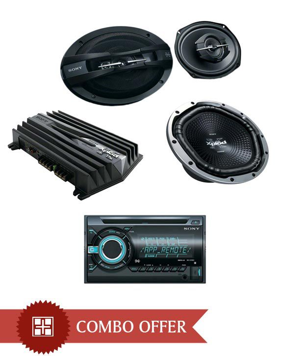 Sony -WX GT 88UI Car Stereo + XS GTX1212L Subwoofer + XS