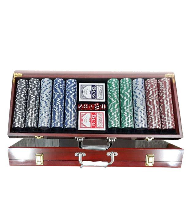 Veera Diced Poker Chipset with Wooden Case (300 chips)